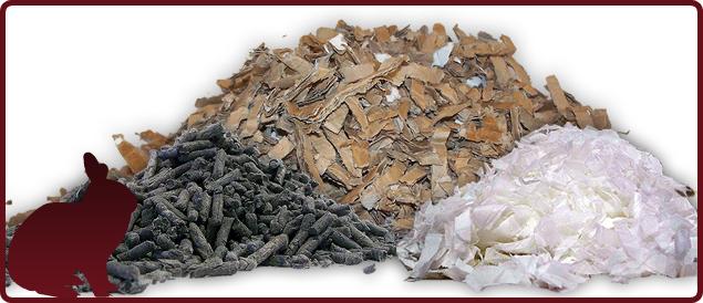 rabbit bedding : finacard + paper pellets + sofnest std - £27.50